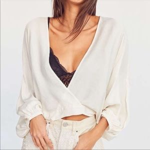 Urban Outfitters Tops - UO Silence & Noise Carla Dolman Sleeve Crop